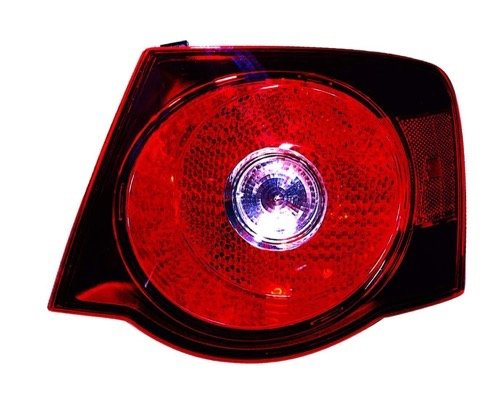 (Go-Parts OE Replacement for 2008 - 2009 Volkswagen Jetta City Rear Tail Light Lamp Assembly / Lens / Cover - Right (Passenger) Side - (Sedan) 1K5 945 096 L VW2801127 Replacement For Volkswagen)