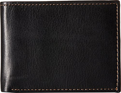 Johnston & Murphy Billfold - Johnston & Murphy Slimfold Wallet (Black/Tan)