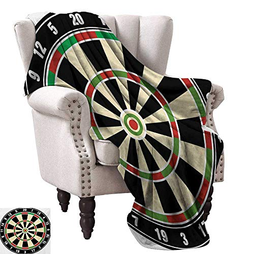 Dart Packers Green Bay (WinfreyDecor Sports Super Soft Blankets Dart Board Numbers Sports Accuracy Precision Target Leisure Time Graphic All Season Premium Bed Blanket 70