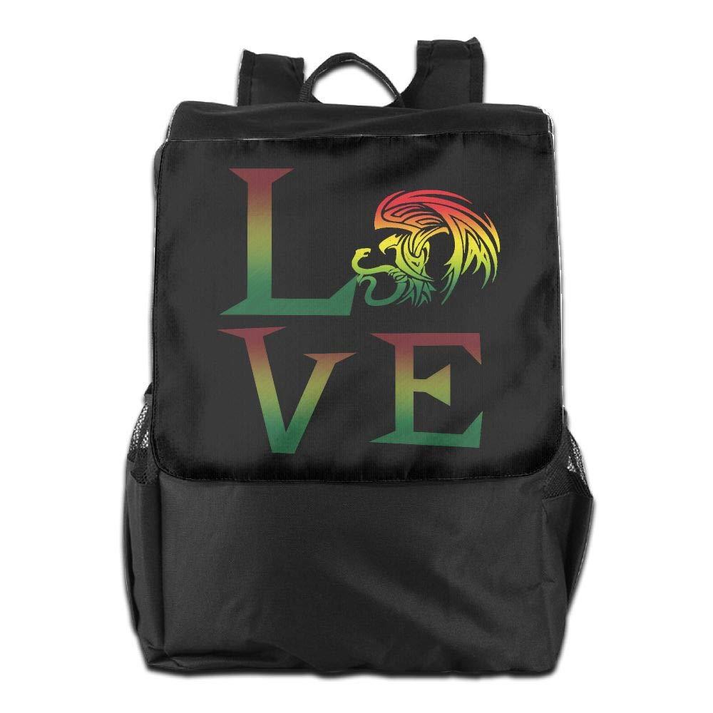 Louise Morrison Rasta Lion Jamaican Reggae Love Women Men Laptop Travel Backpack College School Bookbag