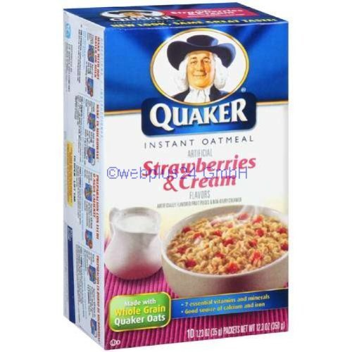 Quaker Instant Oatmeal Strawberry & Cream 10 pk