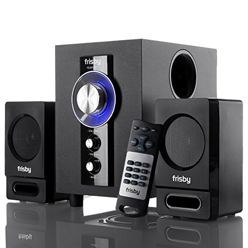 Frisby FS-6100BT Bluetooth Receiver Wireless Stereo 2.1 CH Subwoofer Speaker System with Wireless Remote for Smartphones, Tablets, Laptops, Desktops