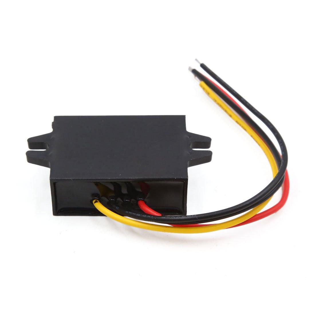 sourcing map 12V /à 5V 5A 25W transformateur de convertisseur dalimentation de r/éducteur de Voiture abaisseur de Voiture