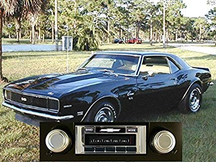 Custom Autosound Stereo compatible with 1967-1968 Camaro BLACK Dash, USA-630 II High Power 300 watt AM FM Car Stereo/Radio