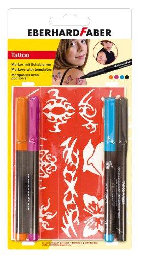 Eberhard Faber 559503 - Tattoo Marker Bright, 4-er Set