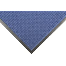 """Notrax 166 Guzzler Entrance Mat, for Lobbies and Entranceways, 2' Width x 3' Length x 1/4"""" Thickness, Slate Blue"""