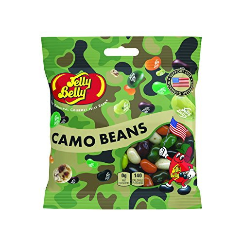 Jelly Belly Camo Jelly Beans, Assorted Flavors, 3.5-oz, 12 P