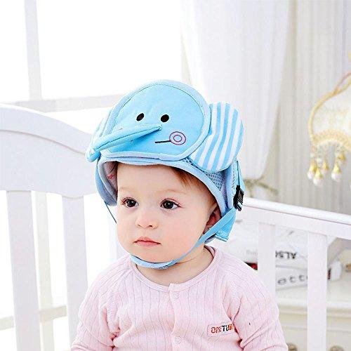 Baby Head Protector casco di sicurezza testa guardia cuscino con cinghie  regolabili e cappuccio di protezione mento Pad imbracature cappello per  neonati e ... d25803300320