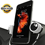 Luxury Car Cell Phone Mount Holder For Air Vents, 360° Rotation Fits All Smartphones Including iPhone X, 8, 7 | 7/8 Plus, 6, 6S, 5, 5S | 6 Plus, 6S Plus | Galaxy S6, S7, S7 Edge, S8, Note 7 (Gray)