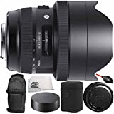 Sigma 12-24mm f/4 DG HSM Art Lens Nikon F 8PC Bundle - Includes Dust Blower + Carrying Case + Microfiber Cleaning Cloth + Manufacturer Accessories