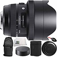 Sigma 12-24mm f/4 DG HSM Art Lens for Nikon F 8PC Bundle - Includes Dust Blower + Carrying Case + Microfiber Cleaning Cloth + Manufacturer Accessories