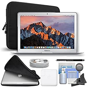 Apple 13.3″ MacBook Air, 128GB SSD, MQD32LL/A Starters Bundles [Mid-2017 – Newest Version]