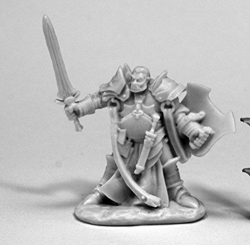 Reaper Miniatures 77438 Jurden, Half Orc Paladin, Bones (Paladin Miniatures)