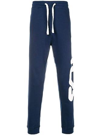 e61ed7a322677 Fila Men's 681275170 Blue Polyester Joggers: Amazon.co.uk: Clothing