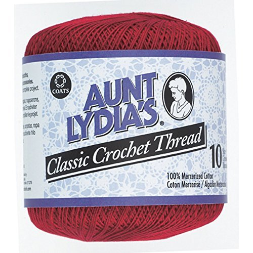 (South Maid Crochet Cotton Thread Size 10-Victory Red)