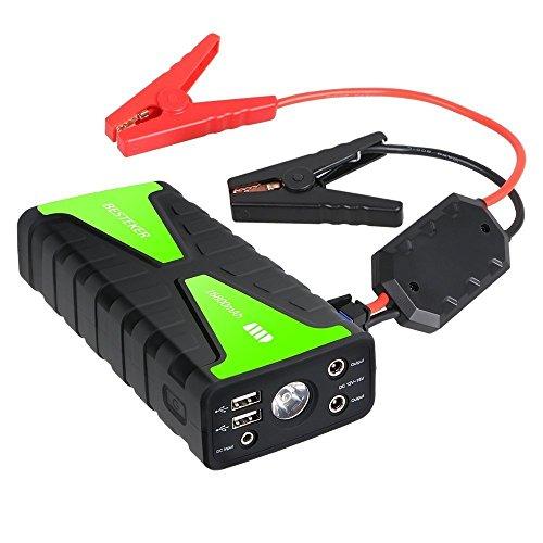 Jump Starter, Besteker Portable Car Jump Starter 16800mAh 12V 800A Peak Current Phone Power Bank Battery Booster...