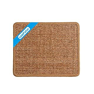LSAIFATER Cat Scratching Mat, Natural Sisal Mat, Protect Carpets and Sofas (11.8x14.9 inch, Brown)