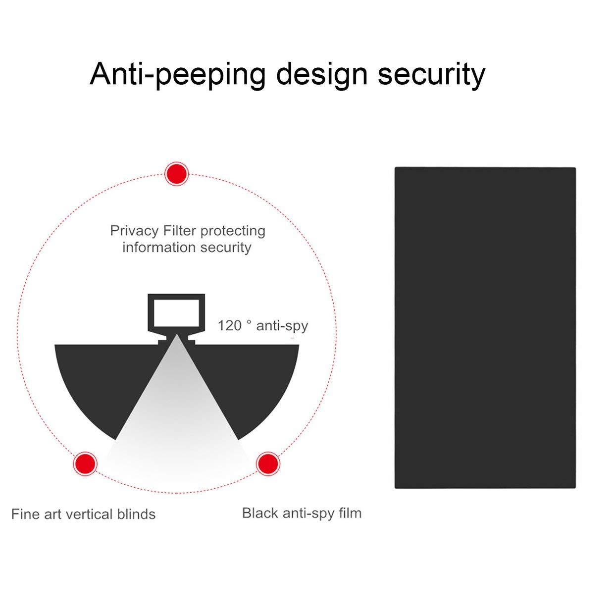 MXECO 10 inch Privacy-protecting Filter Anti-peeping Screens Protective Film for Privacy Security for 16:9 Laptop Computer