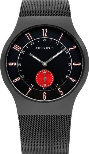 Bering Time 51941-229 – Reloj analógico de cuarzo para hombre con correa de acero inoxidable, color negro