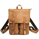 TOREEP Thanksgiving Crazy Horse Leather Vintage Men¡¯s Backpack School Bag