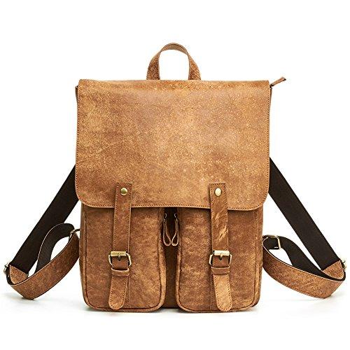 TOREEP Thanksgiving Crazy Horse Leather Vintage Men¡¯s Backpack School - Shop Online Outlet Coach Store