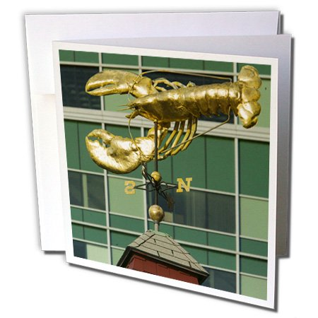 - Danita Delimont - Boston - Massachusetts, Boston harbor, Lobster Weather Vane - US22 WBI0145 - Walter Bibikow - 6 Greeting Cards with envelopes (gc_90967_1)