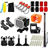 angju For GOPRO hero 5 hero6 Camera Accessories Waterproof shell for Selfie Diving Surfing