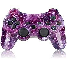 [Patrocinado] Mando de PS3Sixaxis choque doble driver inalámbrico para PlayStation 3con cable de carga Star púrpura