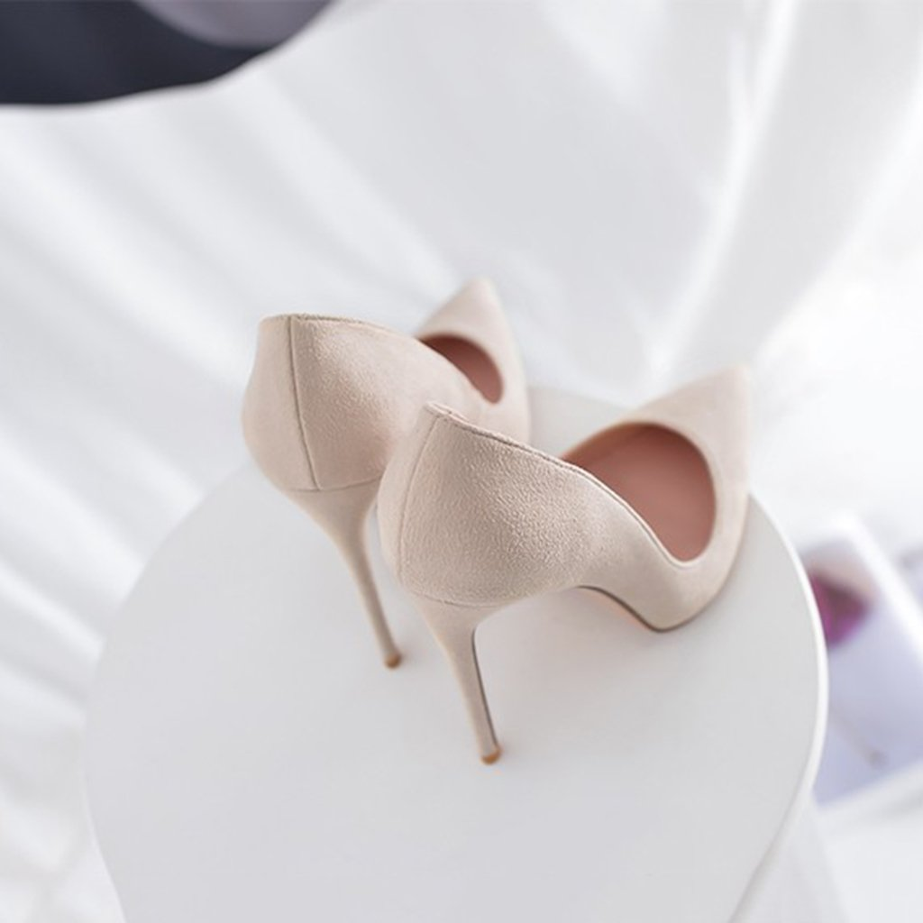 Single schuhe - female Hochhackige Schuhe spitz mit Damenschuhen sexy 8cm/10cm/12cm Nude Farbe sexy Damenschuhen Party Hochzeitsschuhe (Farbe : Height 8cm, größe : 35-Schuhes long225mm) - 957911