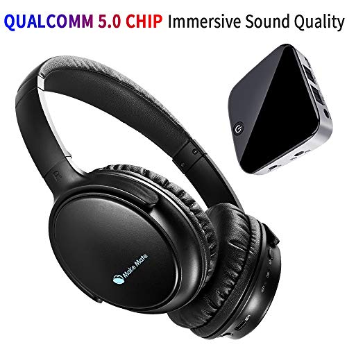 TV Headphones, BKM100 Wireless Headphones for TV with Bluetooth Transmitter & Receiver Set (CSR BC8670) with Optical, Plug & Play, Foldable, No Delay, Hi-Fi Stereo Digital Headset for TV/Phones/PC (Bluetooth Headphone Tv)