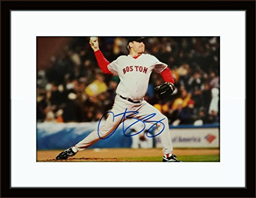 Framed Curt Schilling Photo Autograph with Ceritficate of (Curt Schilling Framed Photo)