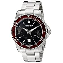 Victorinox Men's 'Maverick' Swiss Quartz Stainless Steel Automatic Watch, Color:Silver-Toned (Model: 249108)