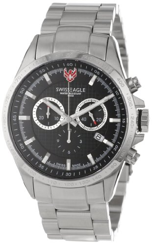 Swiss Eagle Men's SE 9034-11 Corporal Chronograph Black Watch