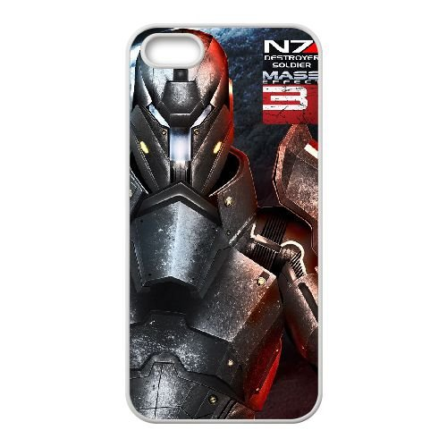 J6U34 Mass Effect L2X3CR coque iPhone 5 5s cellule de cas de téléphone couvercle coque blanche HY7EDB8BG