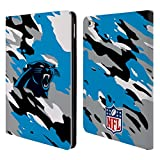 Official NFL Camou Carolina Panthers Logo Leather Book Wallet Case Cover For Apple iPad Air 2
