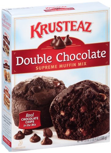 Krusteaz Double Chocolate Supreme Muffin Mix, 20-Ounce Boxes (Pack of 12)