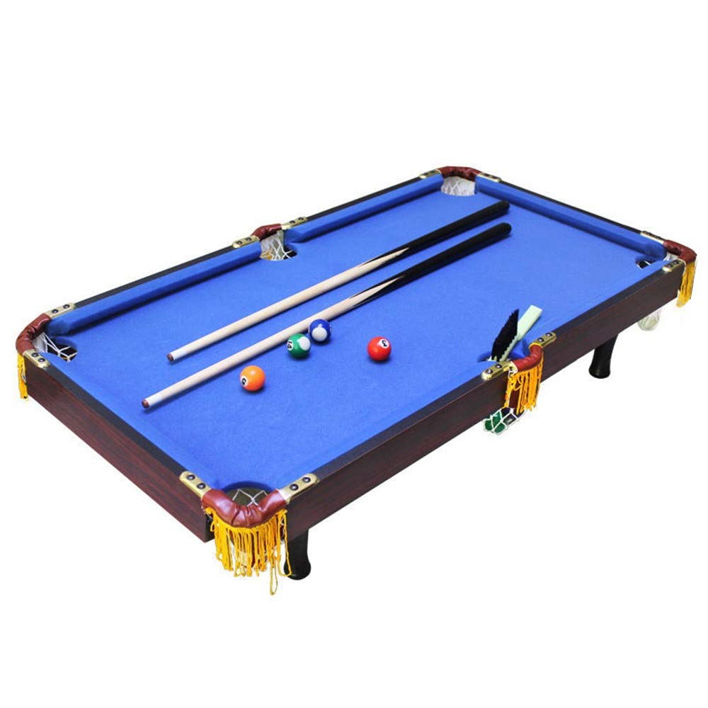 Tabletop Pool Table Billiard Game Kids Sports - Sports Theme (Color : Blue, Size : 92x50x20cm) by TAESOUW-Sports