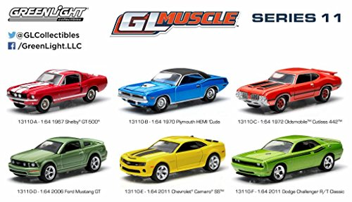 Set of 6 : GreenLight 1:64 Scale Muscle Cars Series 11 (Cutlass Model Car compare prices)