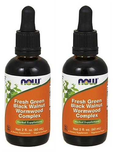 NOW Foods - Green Bla. Walnut Wormwood Cmp 2 fl oz (Pack of ()