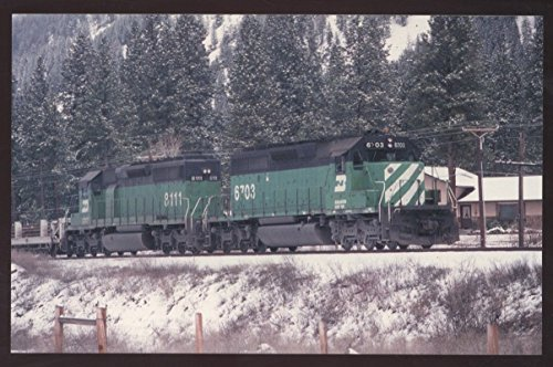 Burlington Northern SD40 Missoula Montana Railroad Train - Store Montana Missoula