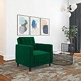 DHP Ivana Accent Chair, Green Velvet, Green Velvet