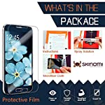 Skinomi Dark Wood Full Body Skin Compatible with Samsung Galaxy S8 (Full Coverage) TechSkin with Anti-Bubble Clear Film… 6 The Skinomi design skin + screen protector compatible with Samsung Galaxy S8 is specifically designed using precise laser cutting technology to offer maximum full body coverage using our design skin protector film Specially engineered film offers lasting protection, easy installation and lightweight construction Natural wood texture gives your device a classy, nature-inspired look and feel
