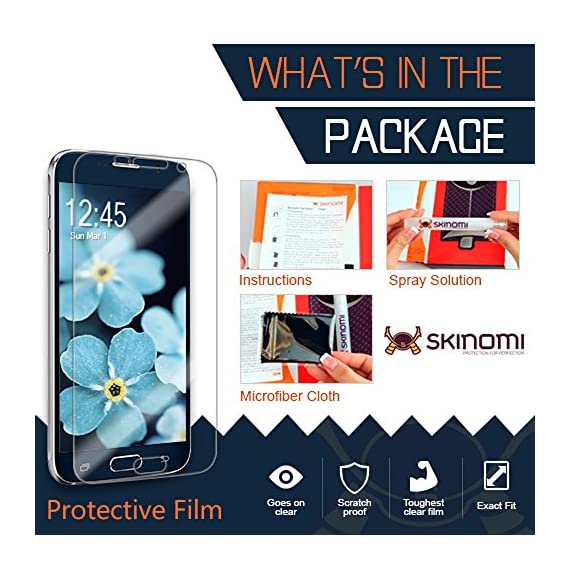 Skinomi Dark Wood Full Body Skin Compatible with Samsung Galaxy S8 (Full Coverage) TechSkin with Anti-Bubble Clear Film… 2 The Skinomi design skin + screen protector compatible with Samsung Galaxy S8 is specifically designed using precise laser cutting technology to offer maximum full body coverage using our design skin protector film Specially engineered film offers lasting protection, easy installation and lightweight construction Natural wood texture gives your device a classy, nature-inspired look and feel