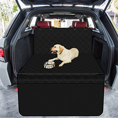 HUANXU Dog Cargo Liner, SUV Cars Trunk Liners for Pet Oxford Waterproof Material folded Non-Slip Back Black Medium Size 52