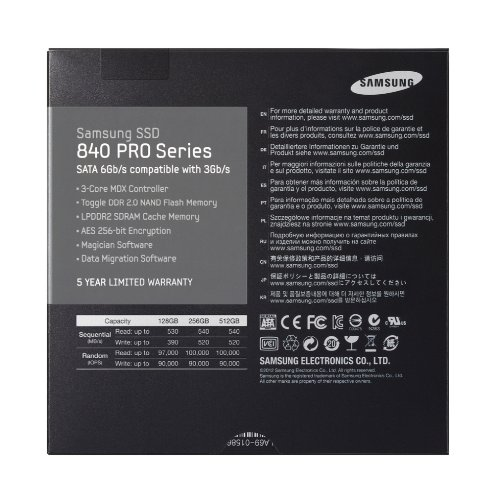 Samsung Electronics 840 Pro Series 2.5-Inch Solid State Drive, 256GB by Samsung