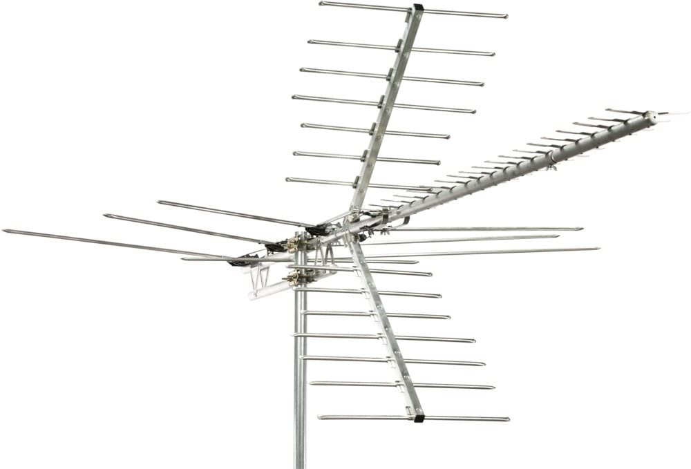Channel Master Digital Advantage 100 Directional Outdoor TV Antenna - Long Range VHF, UHF and HDTV Aerial - Install Outside or Attic - CM-2020