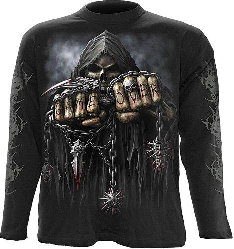 - Spiral - Mens - Game Over - Longsleeve T-Shirt Black - M