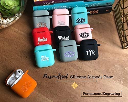 Amazon Com Silicone Airpods Case Custom Airpods Case Monogram