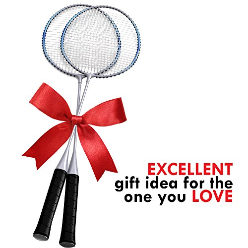Trained Premium Quality Set of Badminton Rackets, Pair of 2 Rackets, Lightweight & Sturdy, with 5 LED SHUTTLECOCKS, for Professional & Beginner Players, Carrying Bag Included by Trained (Image #5)