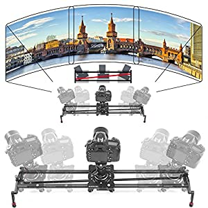 ASHANKS S2 1.2m/3.9ft Track Camera Slider Carbon Fiber Adjustable Angle Tube Follow Focus Pan for Stabilizer DV DSLR Camera Youtube Video Shooting